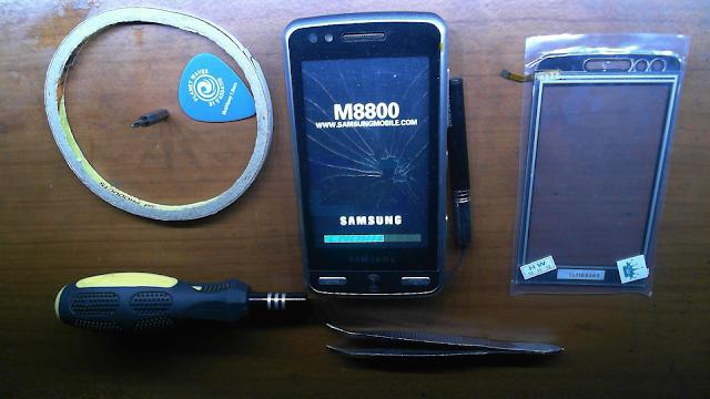 Materiales necesarios para cambiar la mica al M8800