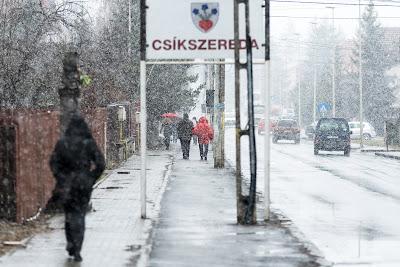 Hargita megye, havazás, havazás márciusban, időjárás, Székelyföld, Csíkszereda