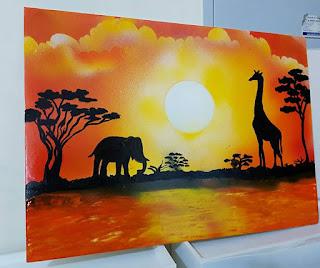 Spray Painting Work.