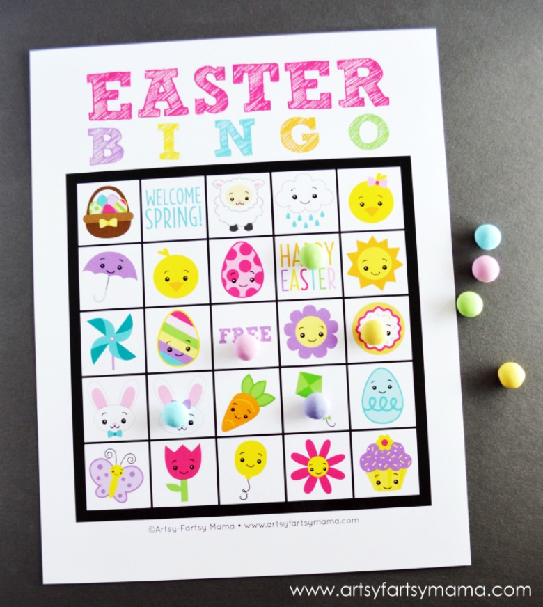Printable Easter bingo - Easter activities for toddlers and preschoolers