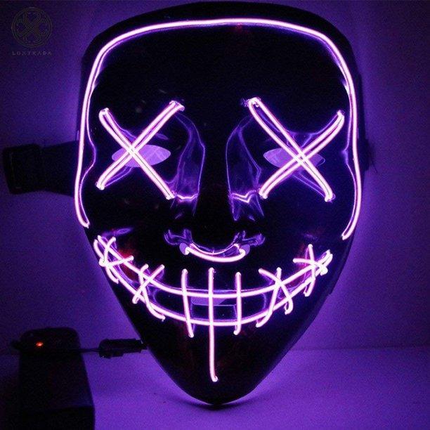 LED Light Up Halloween Mask