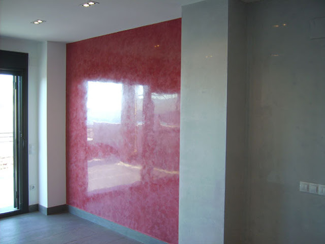 Marble effect with Venetian Stucco in New York