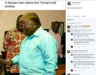 #Trending Lol, A Kenyan man claims Akufo-Addo is Trump's half brother