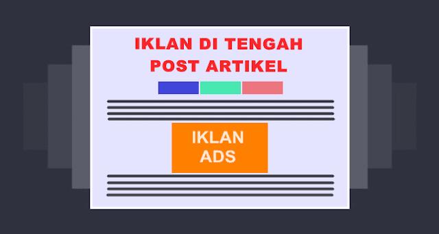 cara pasang kode iklan tengah postingan