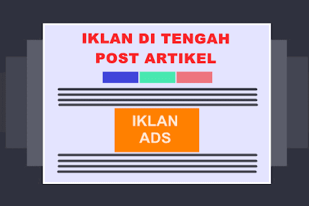 Cara Pasang Iklan Adsense di Tengah Postingan Blog