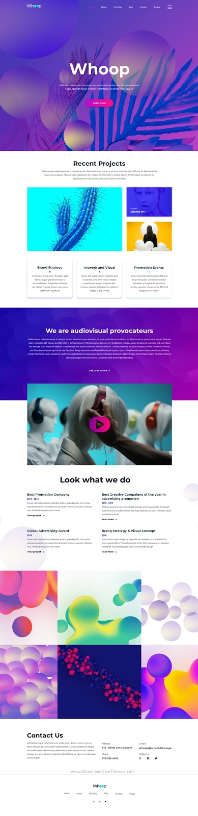 Creative Agency Template for XD