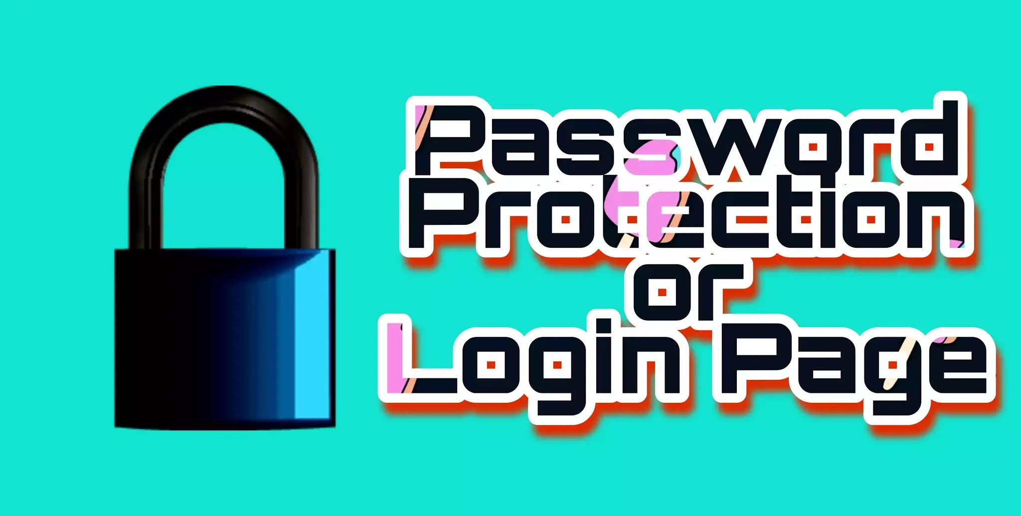 Create a login or password protection page for website?