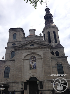 Facade of the Catholic Cathedral of Our Lady of Québec City