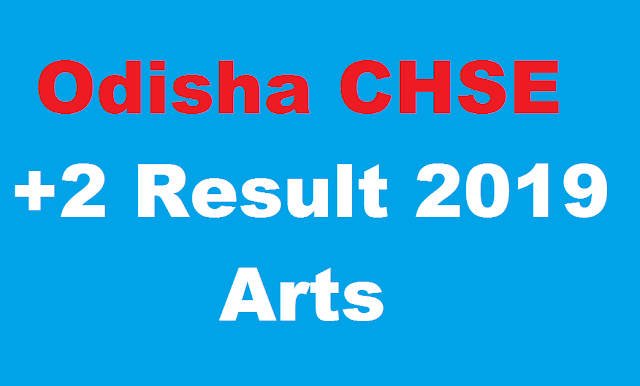 Odisha CHSE Result 2019 Arts