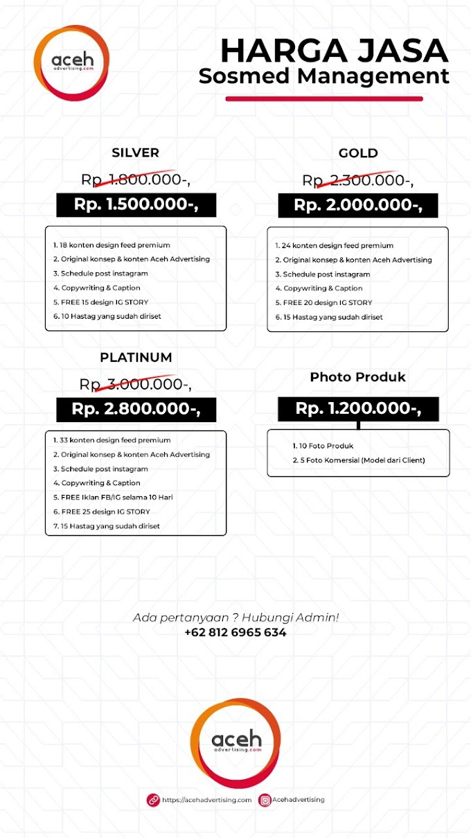 Jasa Management Social Media - Aceh Advertising