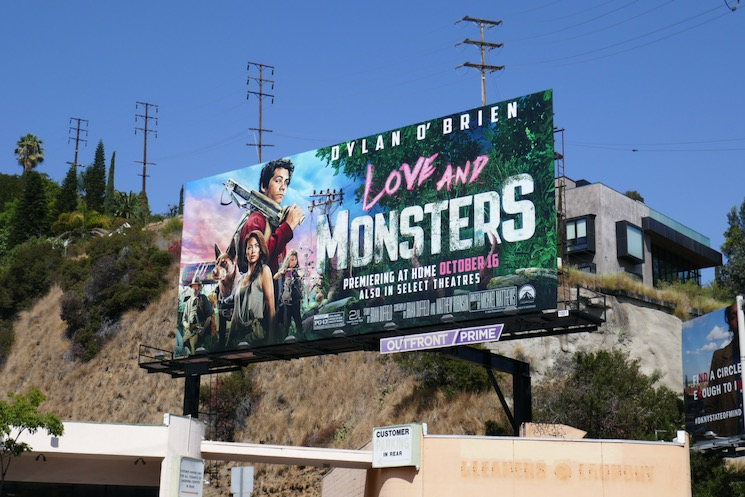 Love and Monsters film billboard
