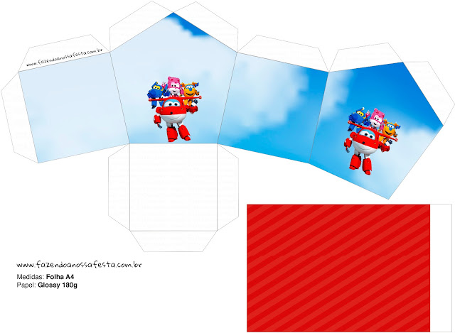 Super Wings: Free Printables House Shaped Box.