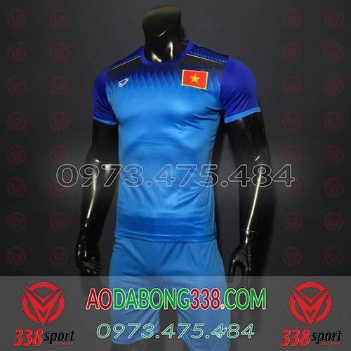 Áo Đội Tuyển Việt Nam 2020 Training Xanh