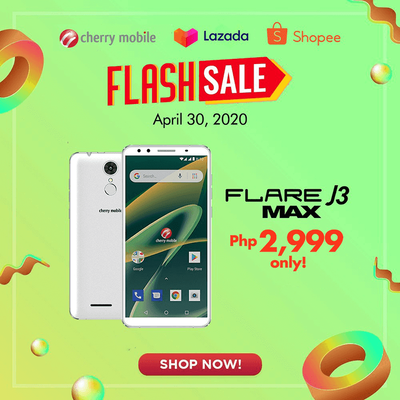 Deal: Cherry Mobile Flare J3 Max will be priced at just PHP 2,999 on April 30
