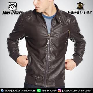 jaket kulit retro