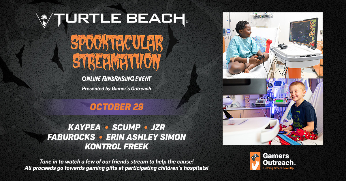 Turtle Beach & ROCCAT Brand Ambassadors Takeover The Gamers Outreach Spooktacular Screamathon Charity Event