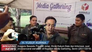Anggota Bawaslu Provinsi Jawa Barat, H Yusuf Kurnia