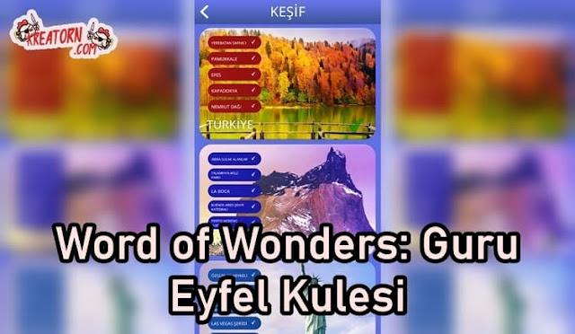 Words of Wonders: Guru Eyfel Kulesi Cevapları
