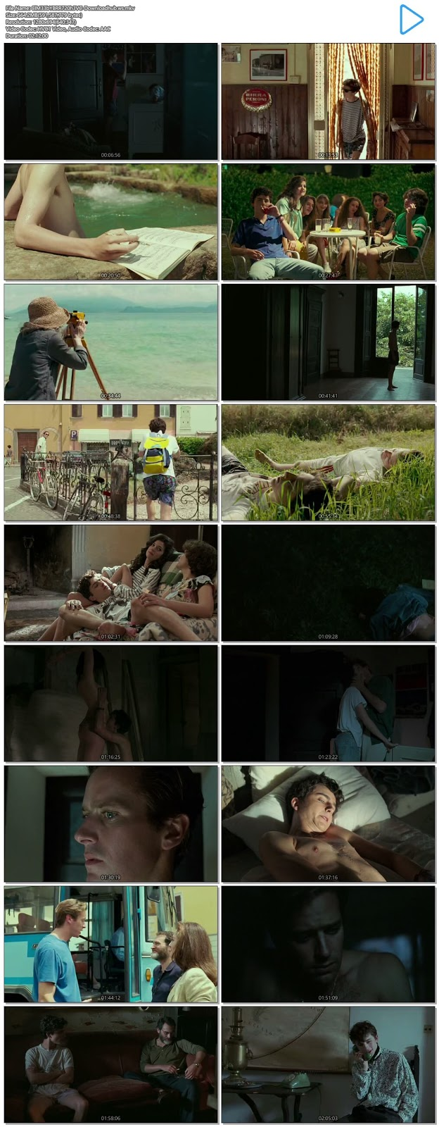 Call Me by Your Name 2017 English 720p HEVC BRRip ESubs