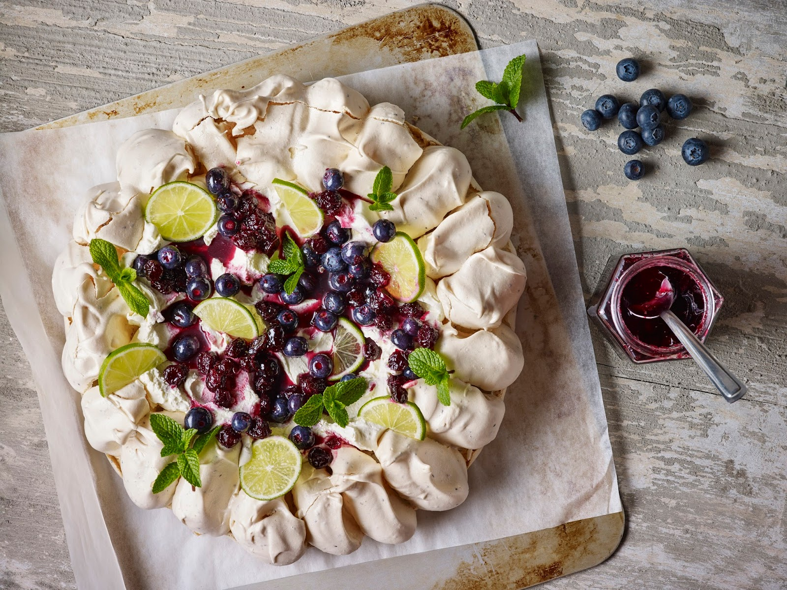 How To Make A Blueberry, Lime and Chia Seed Pavlova