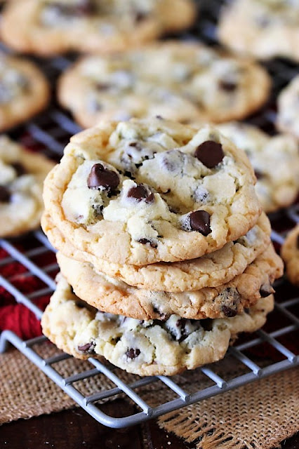 Chocolate Chip Cake Mix Cookies Image