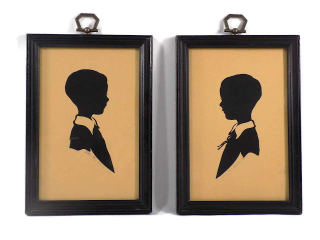 Portrait 1936 Silhouettes by John Van Bibber Hand Cut Signed and Dated