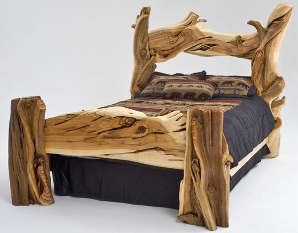 CAMAS DE MADERA WOOD BEDS DORMITORIOS