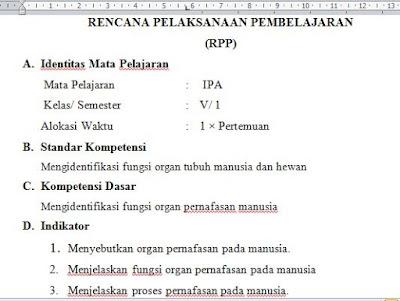 Rencana Pelaksanaan Pembelajaran  Serta Contoh ( RPP )