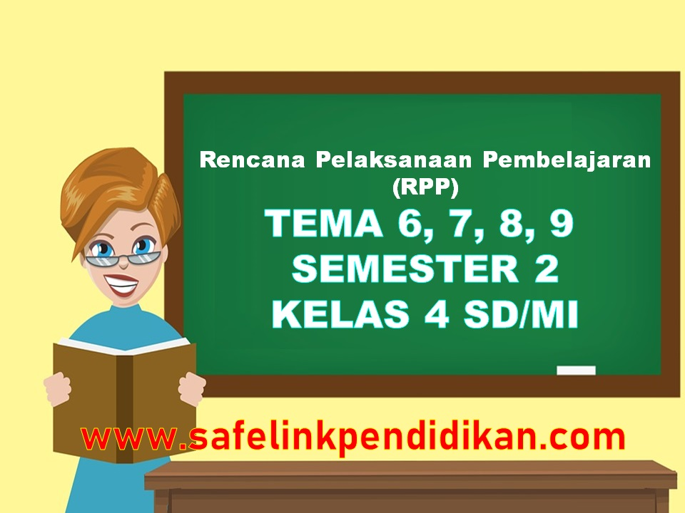 RPP Daring Tema 6 7 8 9 Kelas 4 SD/MI