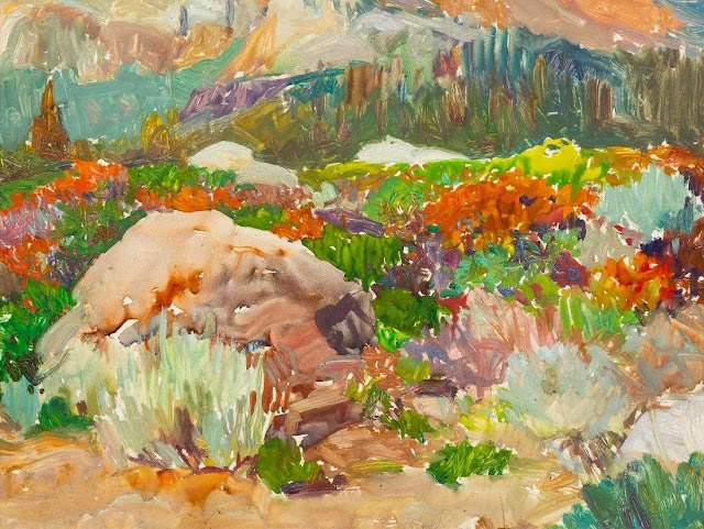 """""""Colorful Underbrush"""" by Frank Tenney Johnson"""