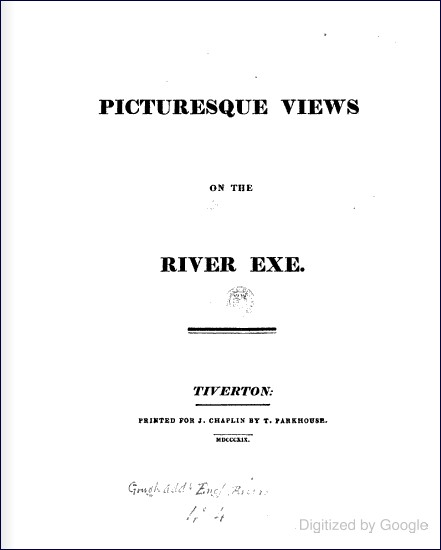 Picturesque Views on the River Exe (J Chaplin, 1819)