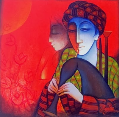 He Is Famous Artist Of India He Is A Self Taught And Versatile Artist Theme Of His Paintings Being Music His Brush Glides Over The Canvas In Rhythmic Stokes