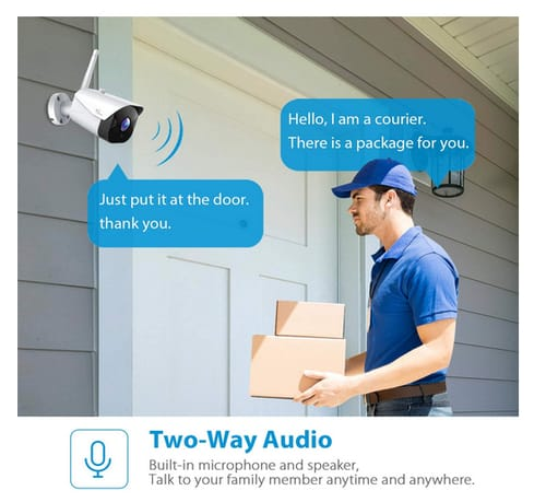 NGTeco 2.4G WiFi Wireless Cameras for Home Security