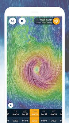 Ventusky: Weather Maps بنسخته المدفوعة