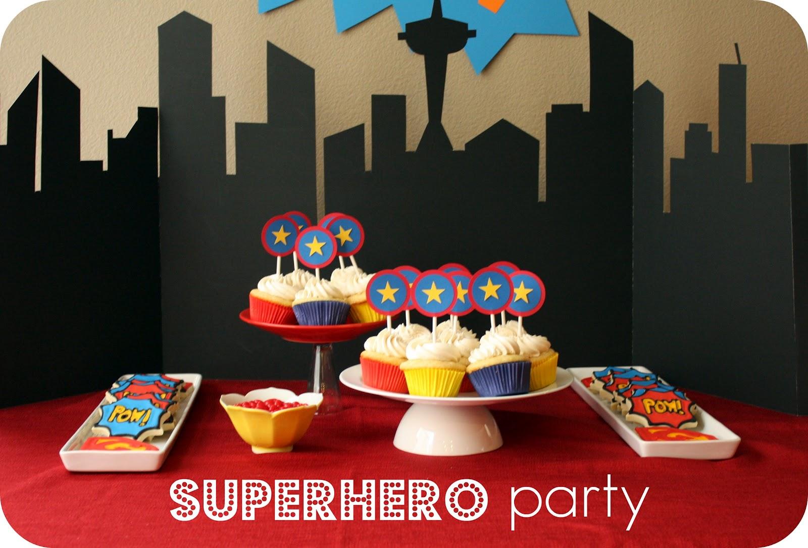superhero party treats and a free printable