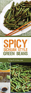 Spicy Sichuan Style Green Beans from KalynsKitchen.com]