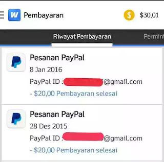Pembayaran dari whaff