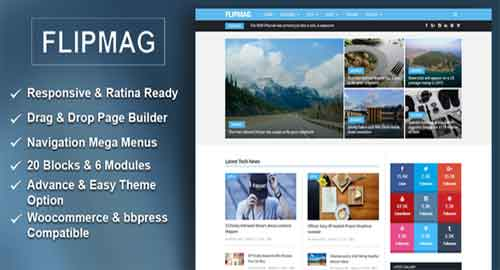 Flip Mag v1.1.0 - Responsive WordPress News Theme