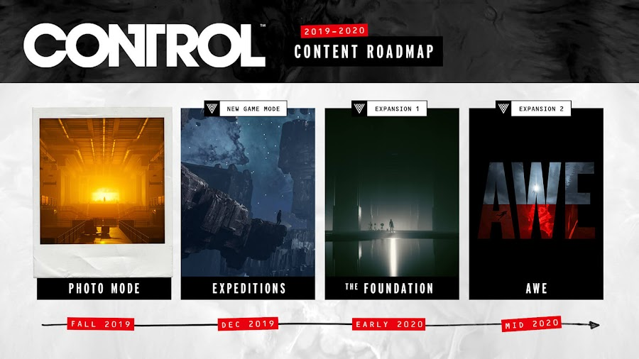 control 2019 content roadmap 2020 dlc expansion remedy entertainment alan wake