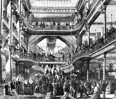 Imagem do interior da Le Bon Marchè