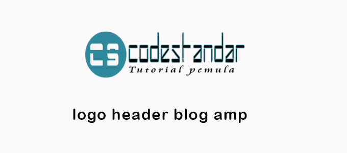 cara memasang dan menampilkan gambar logo header di blog amp