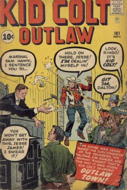 Jack Kirby Kid Colt Outlaw