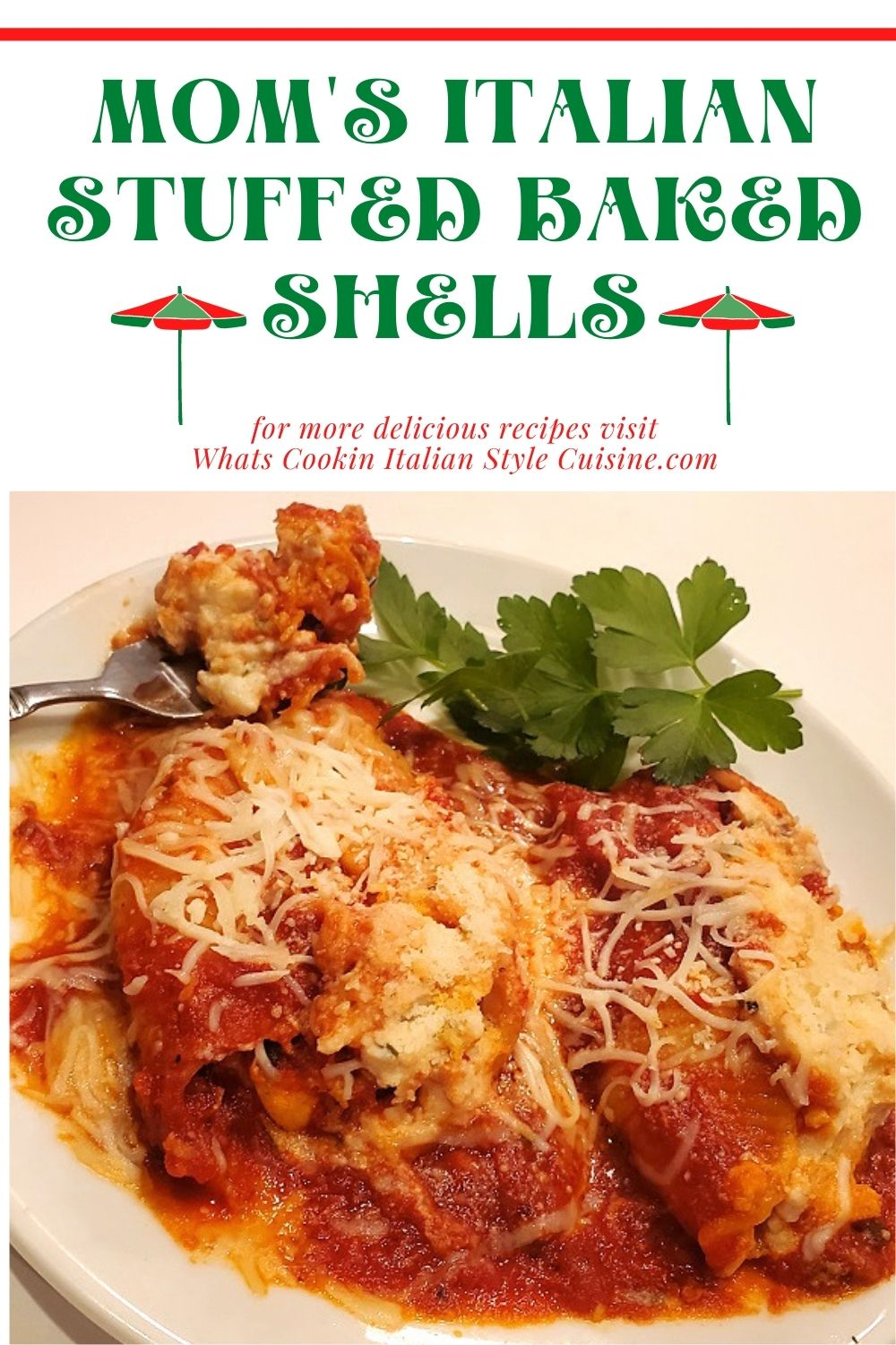 this is a pin for later for baked stuffed shells