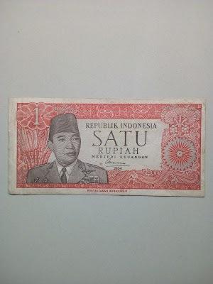 1 rupiah tahun 1964