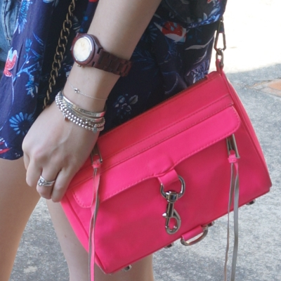 Rebecca Minkoff neon pink mini MAC unclipped | Away From The Blue