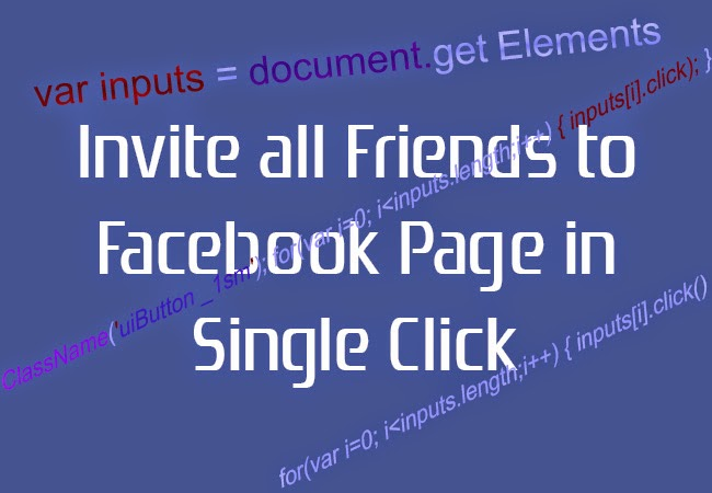 Tech Chaska Invite All Friends To Facebook Page In Single Click