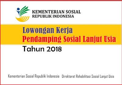 Lowongan terbaru Kementerian Sosial (Kemsos) Republik Indonesia, tahun 2018. Lowongan ini berdasarkan surat Nomor: B/27/Kemensos/RS-Set-RS/KS.02.01/II/2018 tanggal 6 November 2018.
