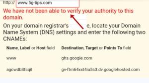 domain verification blogger with godady