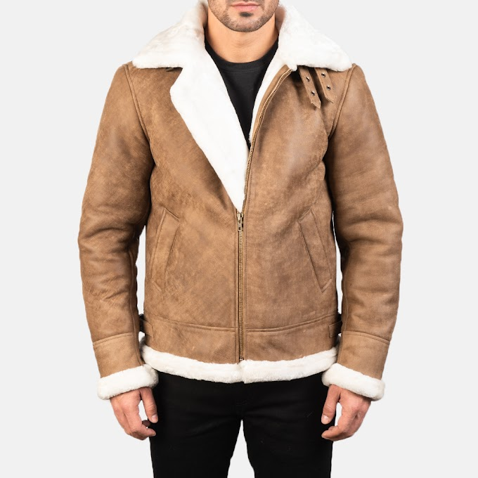 Francis B-3 Distressed Brown Leather Jacket