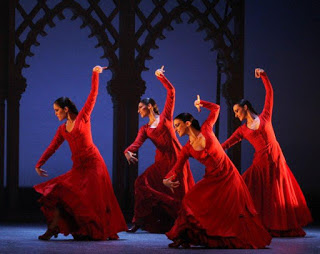 Fotografía de un baile flamenco